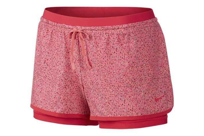 Nike Full Flex 2 In 1 Splatter Spot Gym Shorts Womens Gym Women Womens Shorts