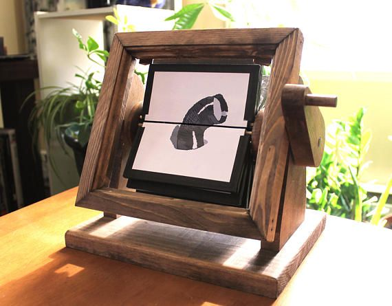 Personalized Wood Flip Book Frame Motion Pictures Frame Animated Flipbook Frame Wedding Gift CUSTOM Flipbook Wooden Flipbook Frame