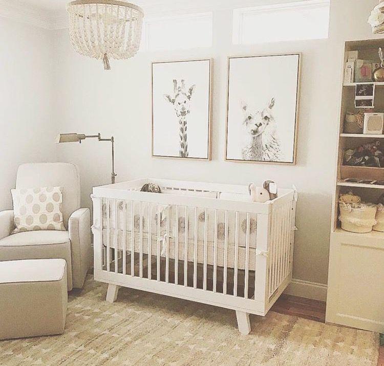 White cream beige nursery Nursery baby room, Beige