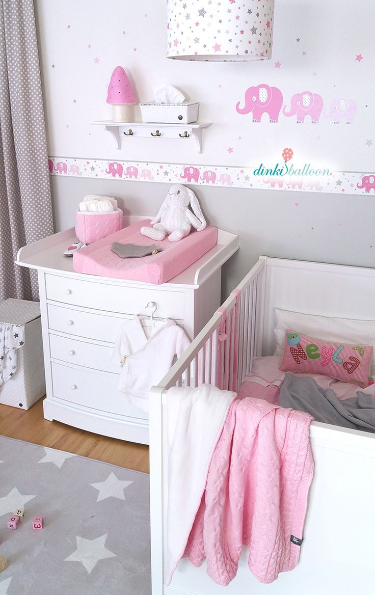 Elefanten In Rosa Grau Bei Fantasyroom Online Kaufen Babyzimmereinrichtung Kinderzimmer Gestalten Zimmer