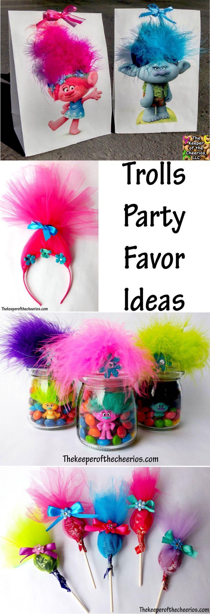 Tiny trolls party giveaways