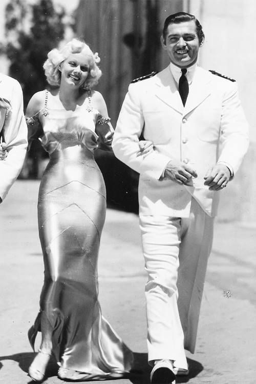 Jean Harlow Clark Gable BOTH SO FUNNY AND BEAUTIFUL :)
