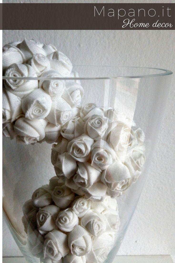 Decorative Bowl Fillers Decorative Balls Set Of 4 Pieces Fabric Flower Balls Centerpiece