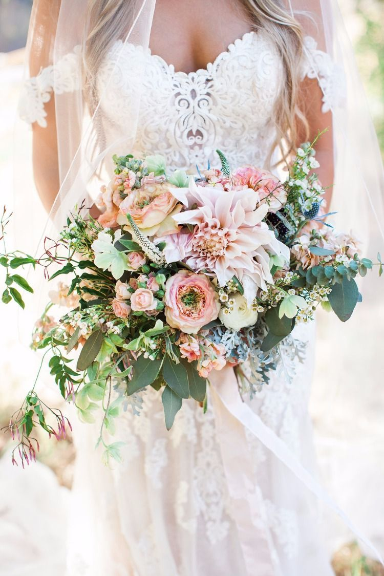Stunning Boho Chic Rustic Ranch Wedding Rustic Bridal Bouquets