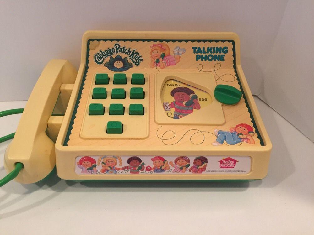Vintage Hasbro 1984 Cabbage Patch Kids Talking Phone In Original Box Mib Vintage Cabbage Patch Dolls Cabbage Patch Kids Cabbage Patch