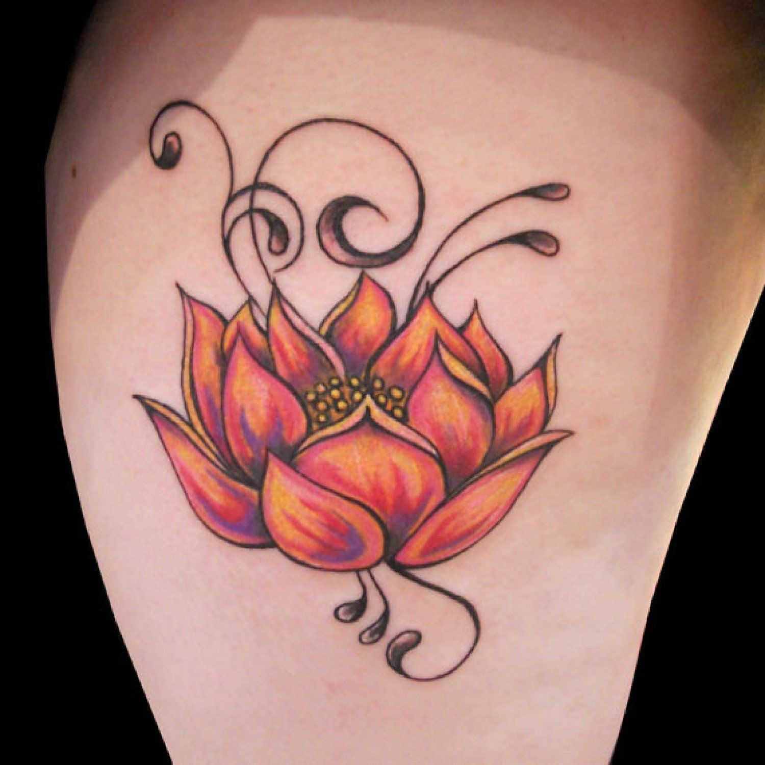 Lotus Flower Tattoo The most popular floral tattoo has