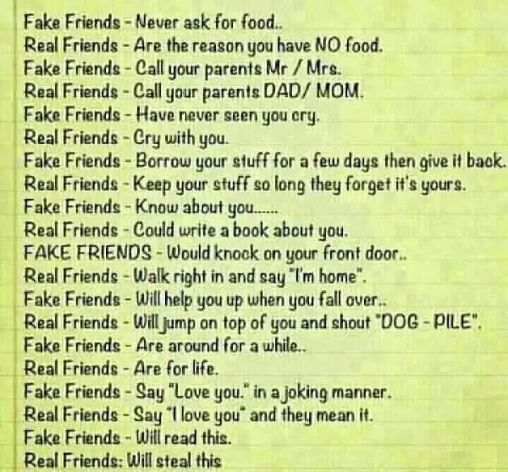 Fake Friends Vs Real Friends Real Friends Friendship Quotes Funny Friends Quotes