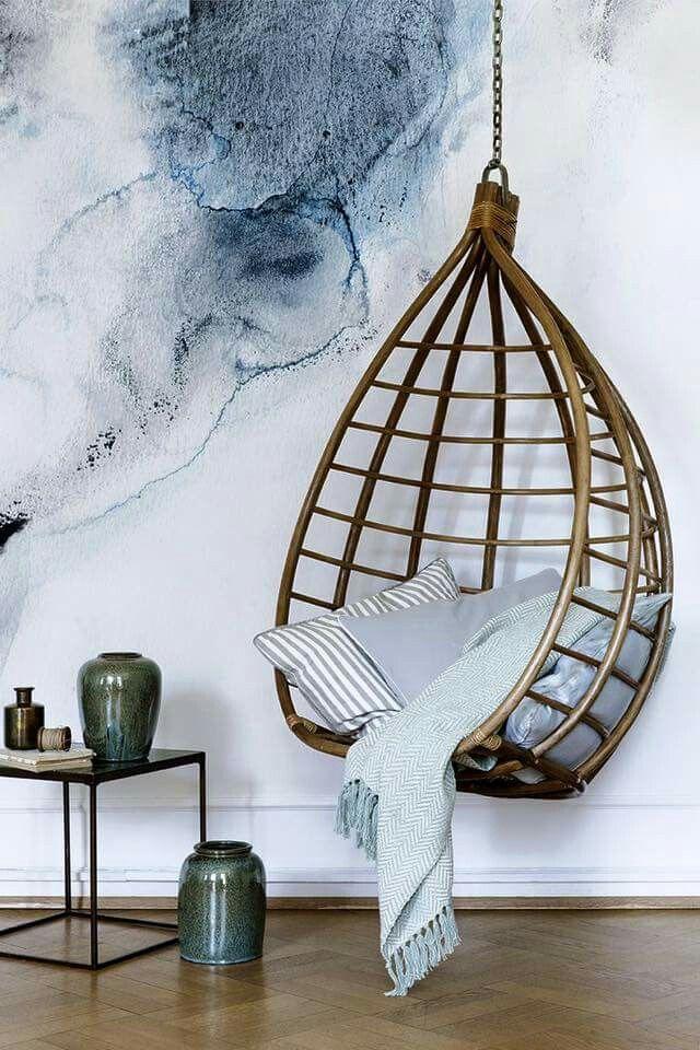 Hanging Rattan Chair   Wicker, Wicker   Pinterest   Rattan ... on indoor haning chair yarn, recliners for bedrooms, indoor ceiling chairs, indoor haning veil chair covers, indoor hammocks for bedrooms,