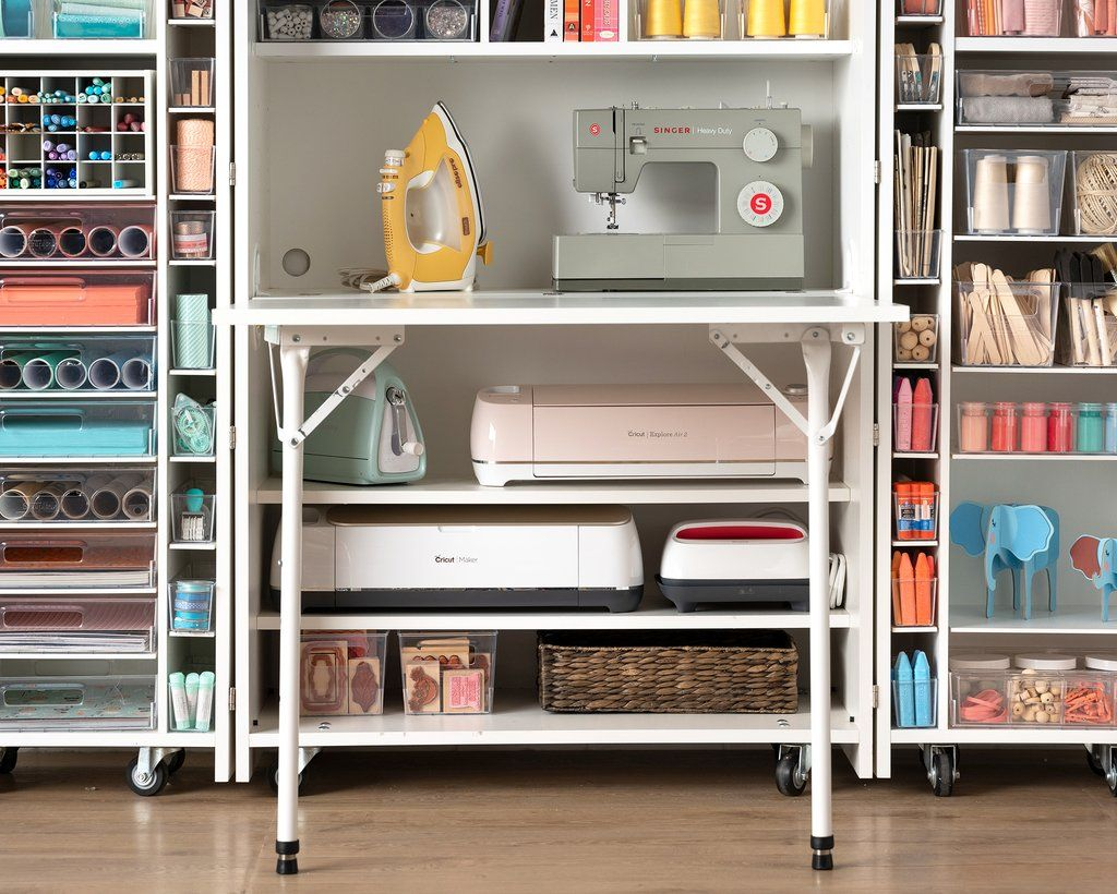 How To Organize Your Dreambox For Cricut Crafting Craft Tables With Storage Small Craft Rooms Craft Desk