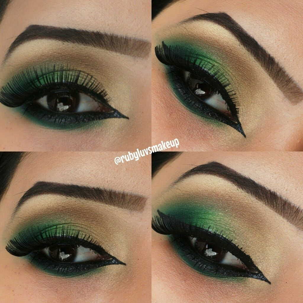 Image result for dark green eye shadow