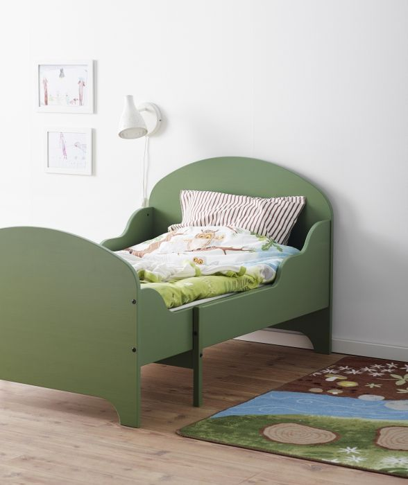 Ikea green expandable toddler bed | Girl Room | Pinterest ...