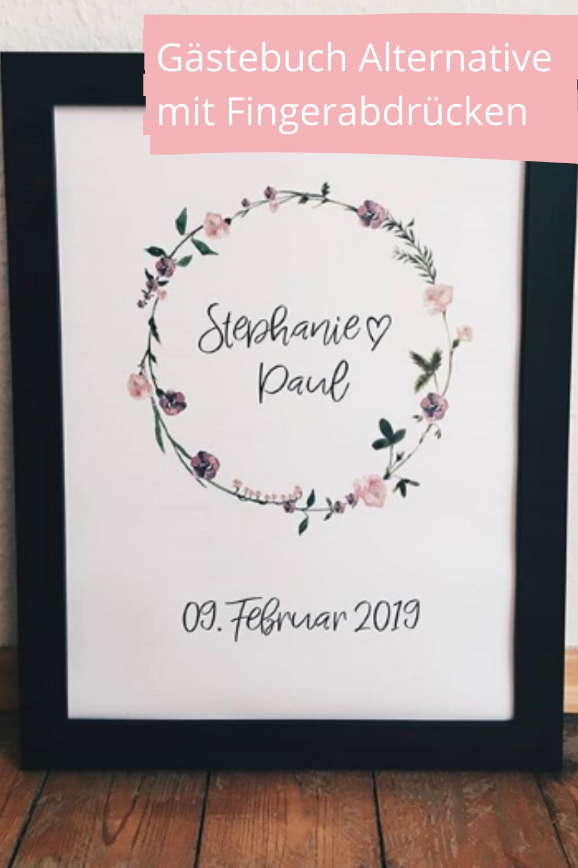 Gastebuch Hochzeit Fingerabdruck Gastebuch Geschenk Etsy In 2020 Place Card Holders Bride Place Cards