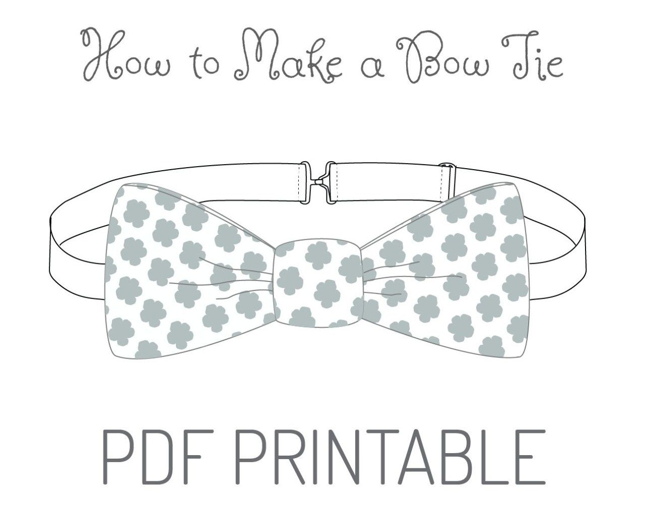 21 Brilliant Photo Of Bow Tie Sewing Pattern