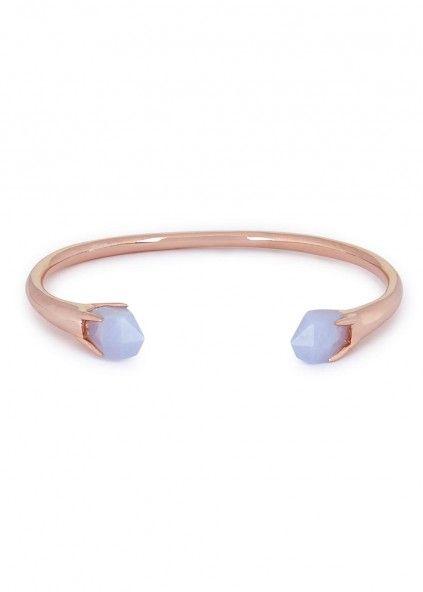 Perla blue agate rose gold tone bracelet