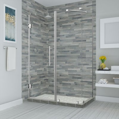 Aston Bromley Hinged Semi-Frameless Rectangle Shower Enclosure in