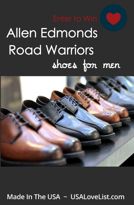 Enter to win a pair of Allen Edmonds' Road Warriors dress shoes for men | Made in USA | Giveaway ends 7/16/15