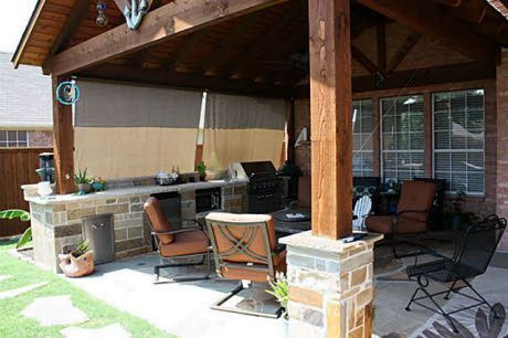 Check Out The Home I Found In Frisco Covered Outdoor Kitchens Outdoor Kitchen Design Outdoor