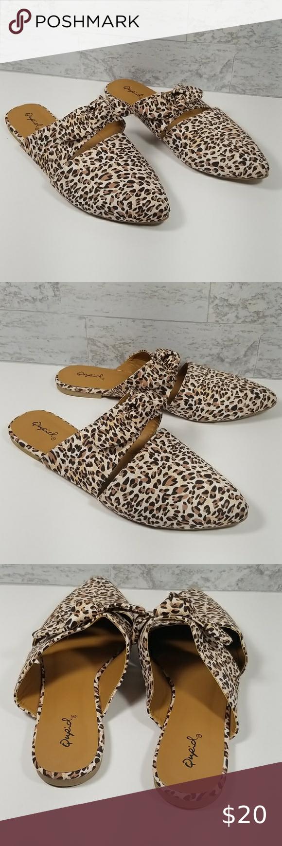 qupid leopard mules