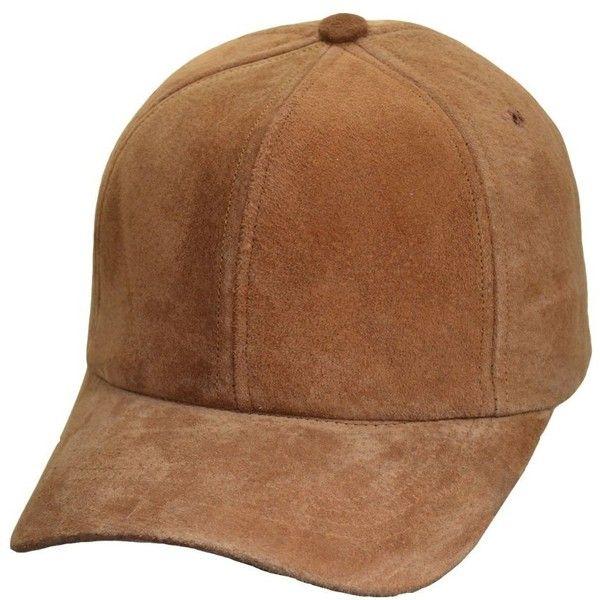 mens brown leather baseball cap chris logo suede caps made light 2015