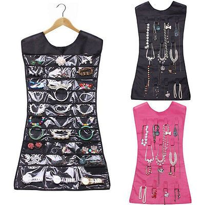 Hanging Jewelry Organizer Storage Closet Dress 30 Pocket Holder
