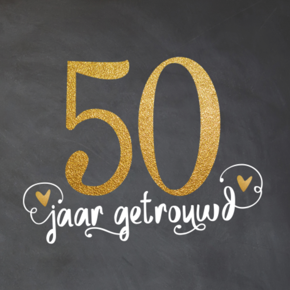 50 jaar huwelijk lovz | uitnodiging 50 jaar getrouwd goud look, sierletters en  50 jaar huwelijk