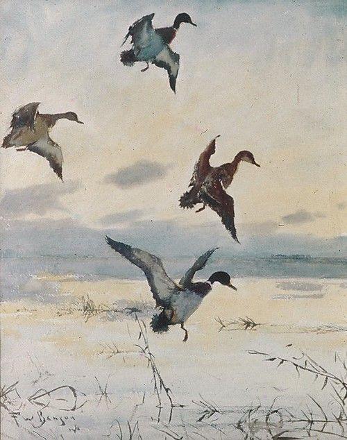Frank Weston Benson (American, 1862 -1951), Evening, 1925. Watercolor, gouache and graphite.