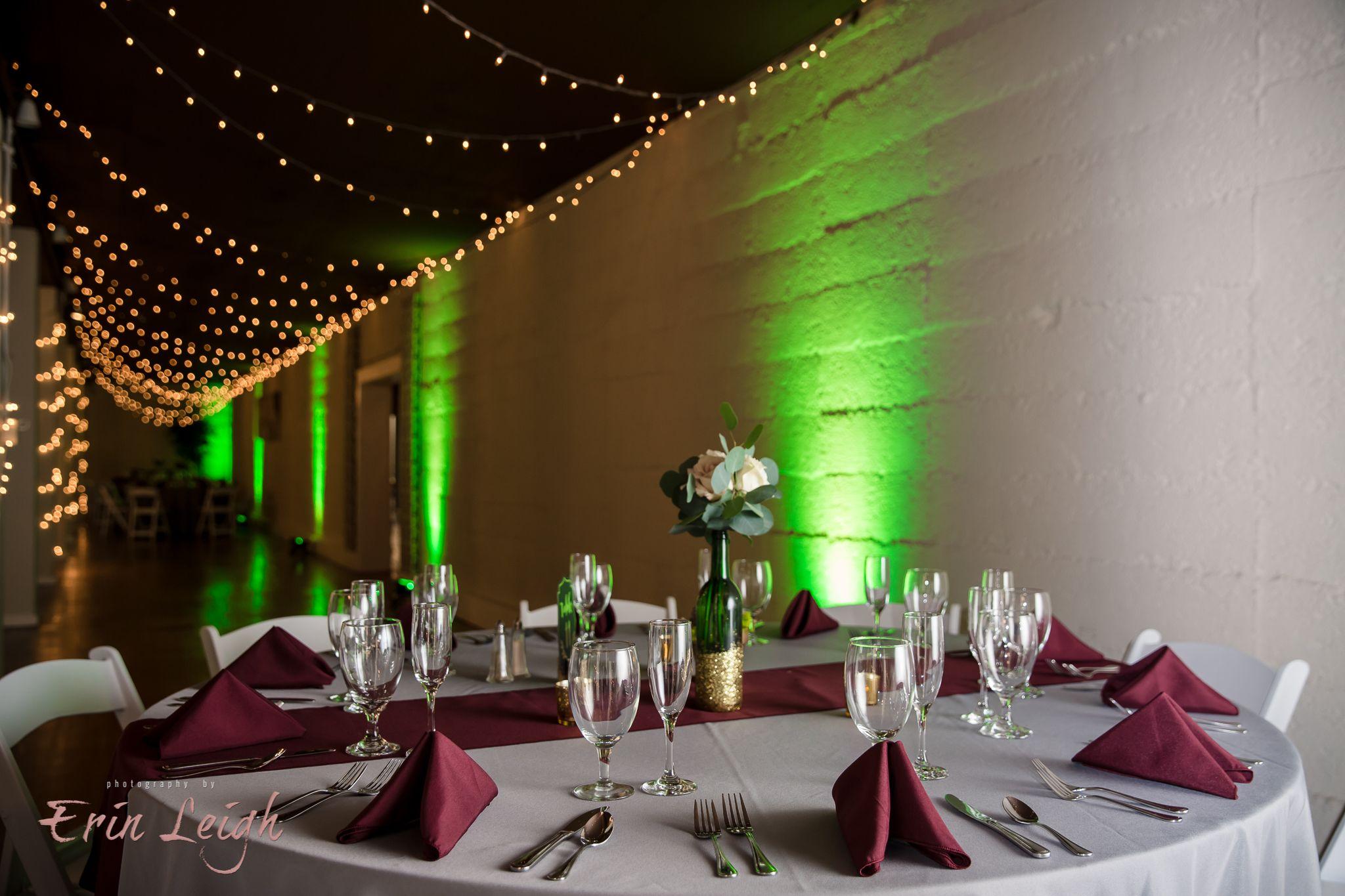 Green Wedding Uplighting by Soundwave DJs, Harrisburg PA