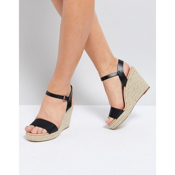 3896cc4e889b Miss KG Paulina Wedge Sandals (€45) ❤ liked on Polyvore featuring shoes