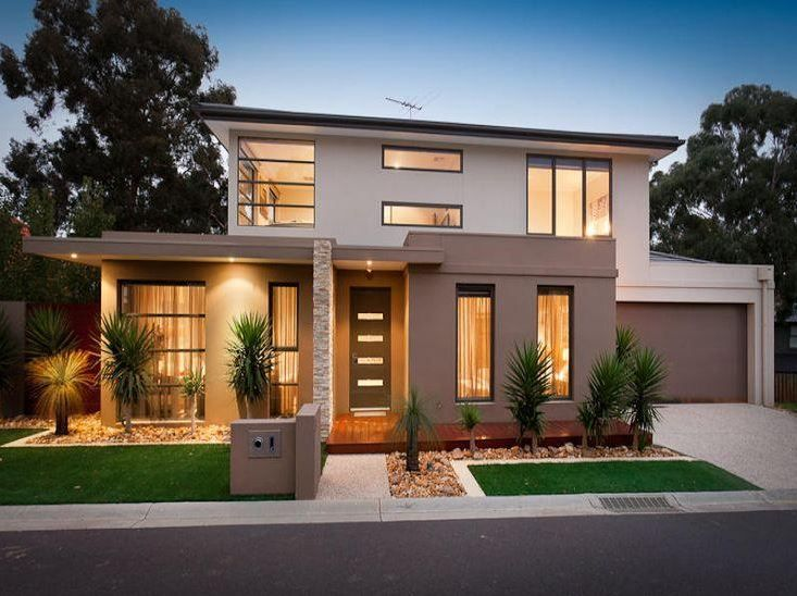 Casa de un solo piso presentamos una fachada que combina - Casas de madera bonitas ...