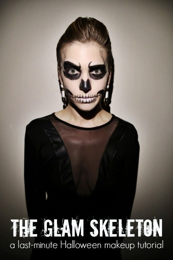 A step by step guide to totally doable glam skeleton for Cheap face painting houston