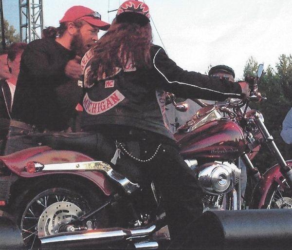 Hells Angels Michigan Nomads at the Corley Run, 1994