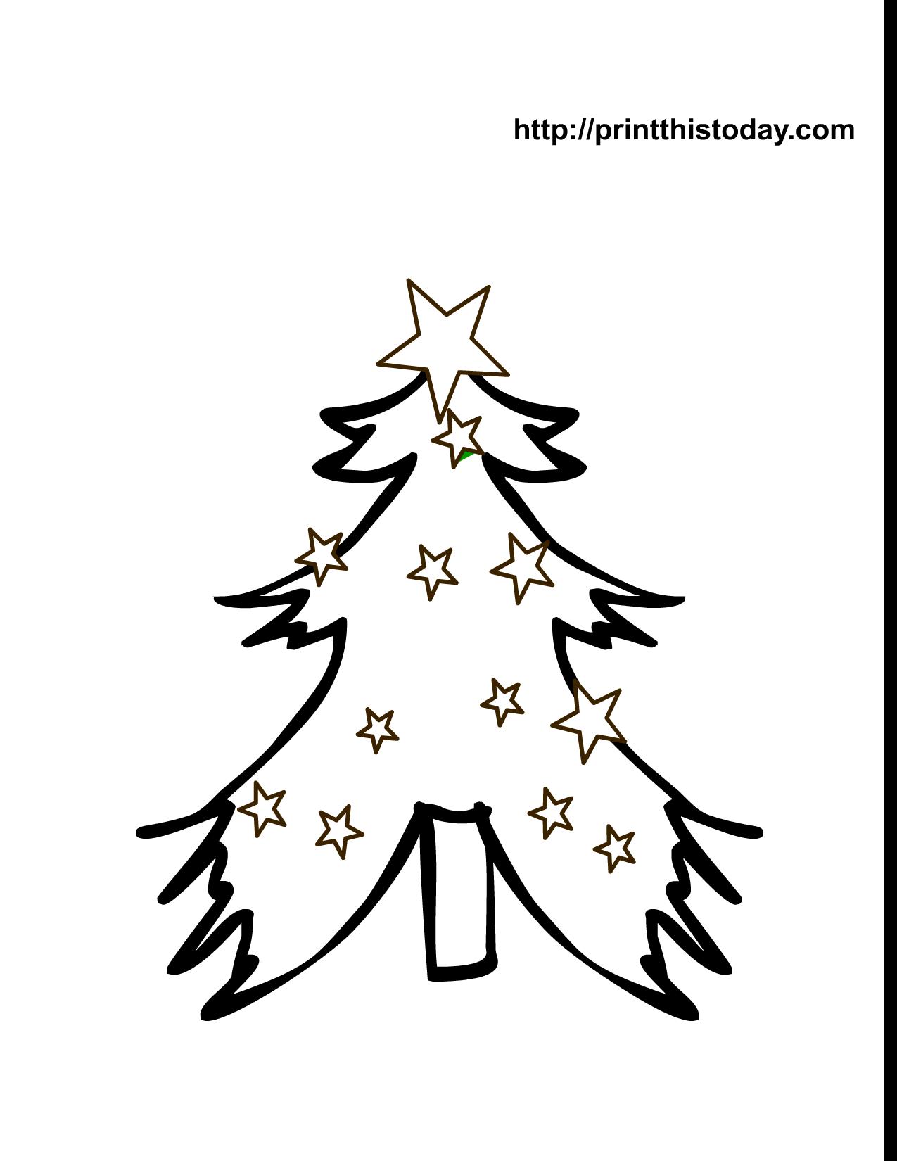 Christmas tree coloring pages | Free Christmas Printables, Christmas ...