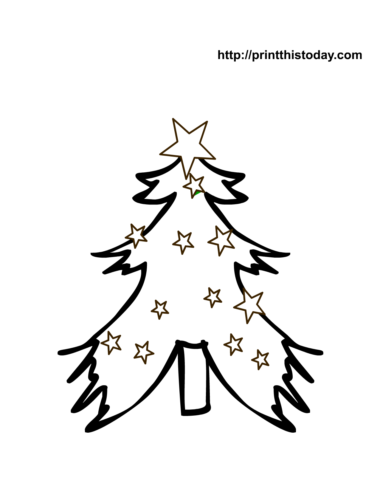 Free Printable Christmas Tree Coloring Pages | Tree ...