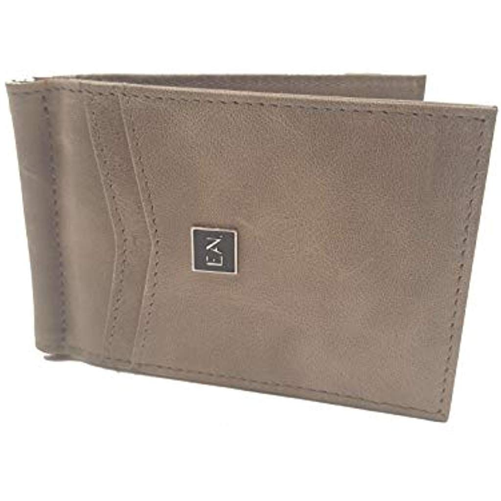 negozio online ec9c2 37963 ELAN Portafoglio Uomo Vera Pelle Blocco RFID con fermasoldi ...