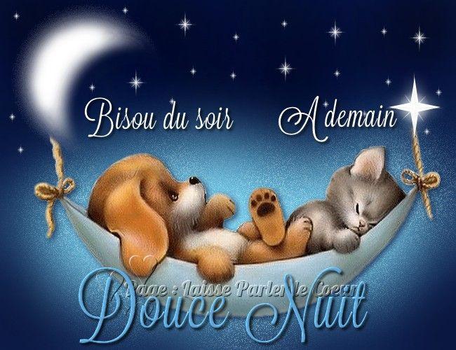 Bisou du soir, À demain, Douce nuit | Bonne nuit, Bisous du soir, Image  bonne nuit
