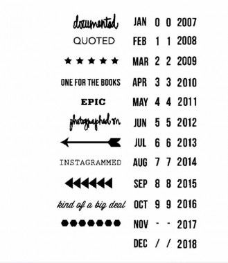 Studio Calico Stamps Roller Date Stamp | Stationery supplies ...