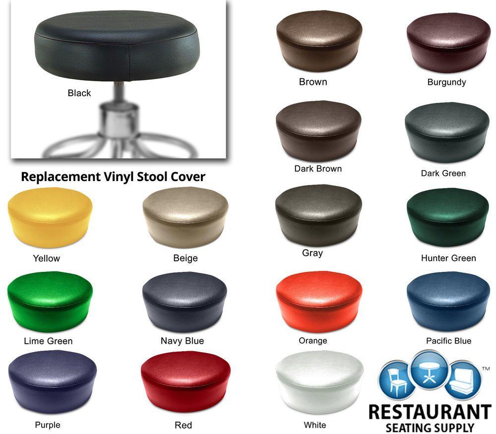 New Round Restaurant Bar Exam Stool Cover Heavy Duty Vinyl Seat Replacement B Bar Stool Covers Stool Covers Round Bar Stools