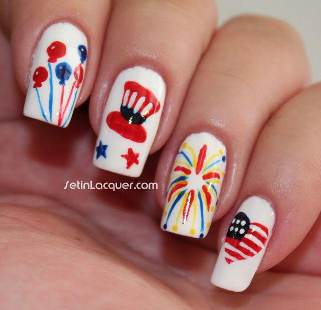 Fun 4th of July or Memorial Day nail art. | NAIL ART | Pinterest