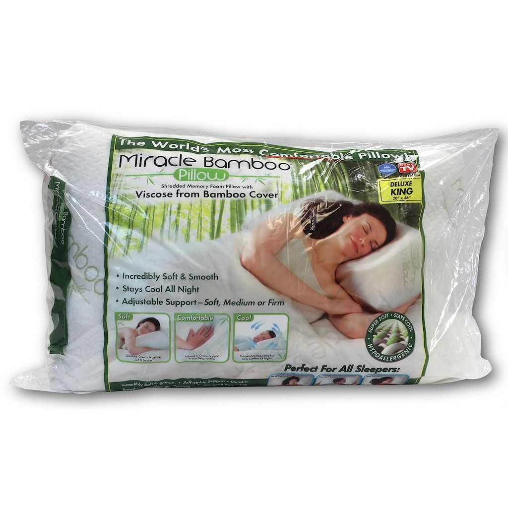 Miracle Bamboo 3 In 1 Pillow Kohls Bamboo Pillow Side Sleeper Pillow Gel Memory Foam