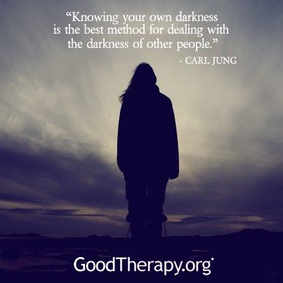 Don't deny your own darkness. What you resist will persist ... Knowing your own darkness is the best method for dealing with the darkness of others - Carl Jung