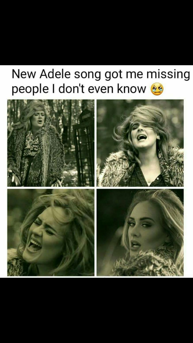 Pin by Jackie Cardenas on Memes Hello memes, Adele songs