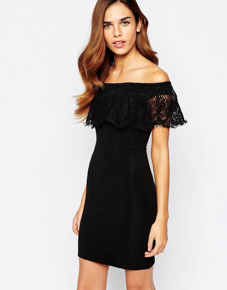 Asos lace bardot mini dress