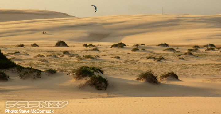 Kite the desert...