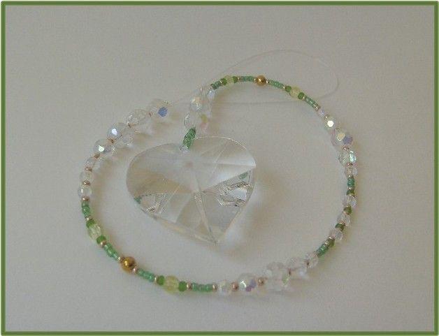 Fensterschmuck - Feng Shui Herz-Regenbogen-Kristall Suncatcher  - ein Designerstück von die-deko-werkstatt bei DaWanda