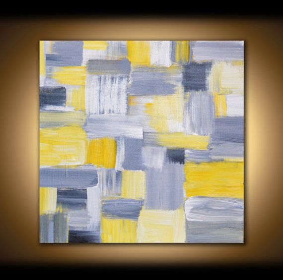 Yellow And Gray Canvas Wall Art.Pin On Gray And Yellow