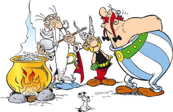 Asterix Obelix /& Miraculix Comics Zaubertrank Frühstücksbrettchen LOGOSHIRT