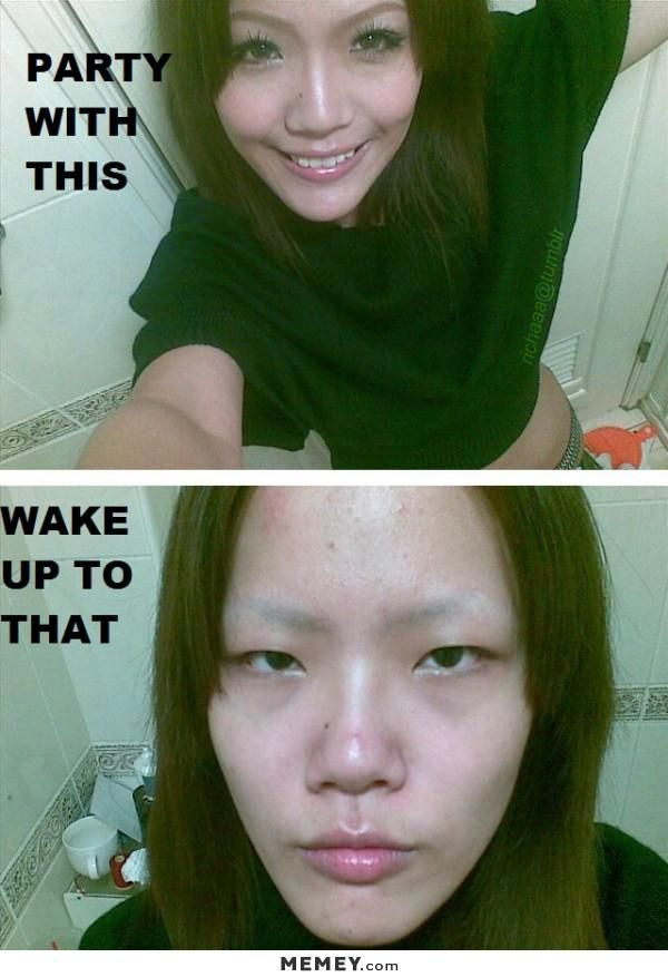 Girl Without Makeup Memey Com Asian Makeup Funny Funny Pictures