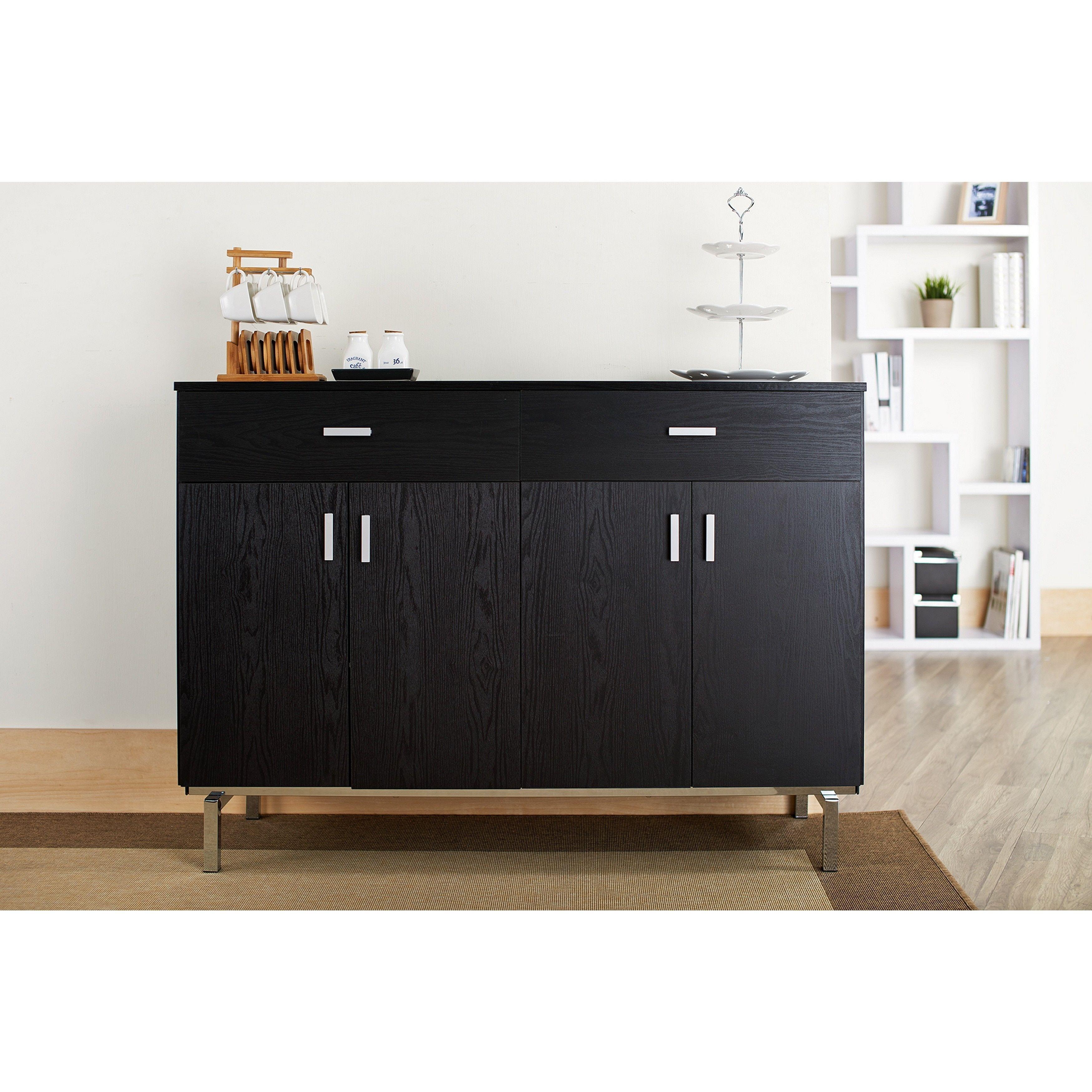 furniture of america mason black finish buffet dining server black rh pinterest com