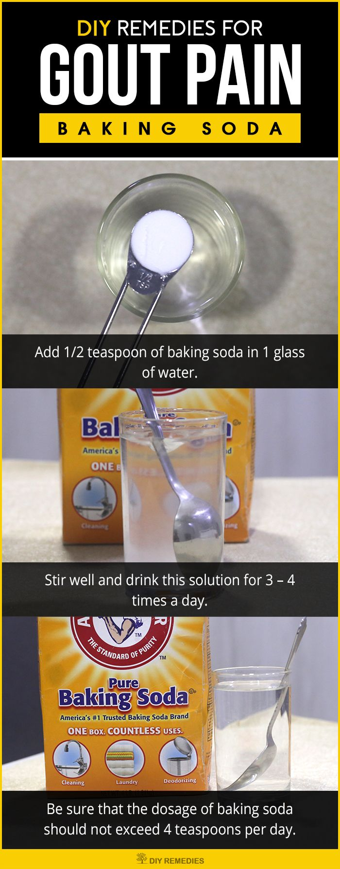 DIY Remedies for Gout Pain  Pain duepices Baking soda and Baking