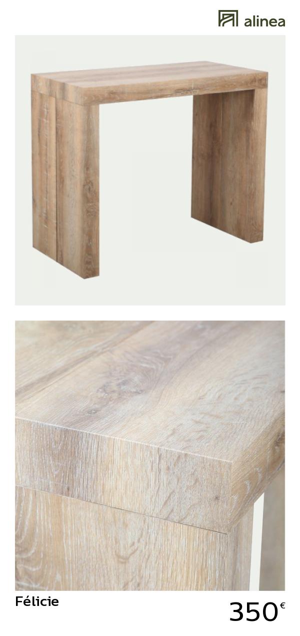 Alinea : Félicie Table Console Extensible L45 à 180cm